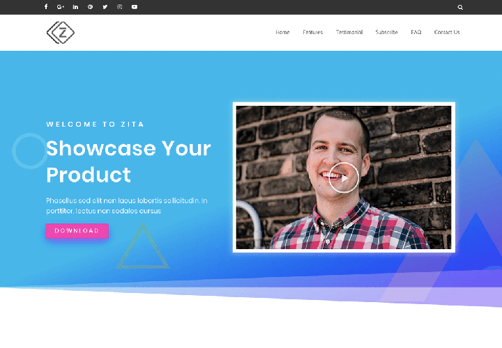 zita free wordpress theme