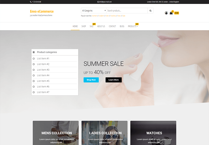 Download Free Envo eCommerce