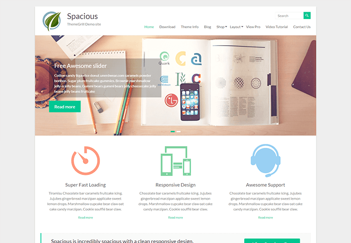 Download Free Spacious theme