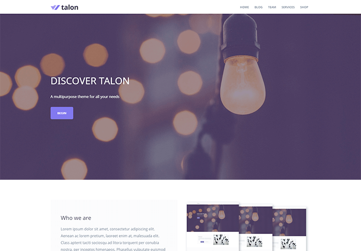 Download Free talon theme